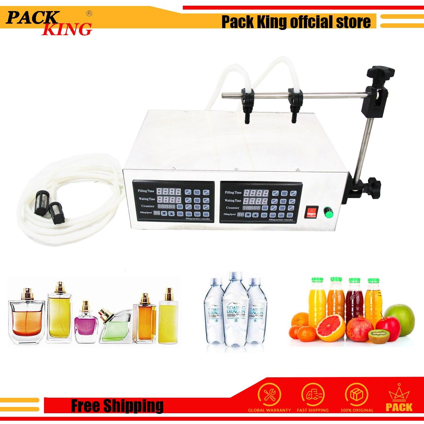 Double Heads Liquid Water Perfume Filling Machine Milk Vinegar Soy Sauce Drinking Beverage Juice Digital Filler 5-5000ml