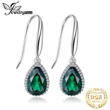 8.5ct Nano Ruassian Emerald Drop Earrings 925 Sterling Silver Retro Vintage Jewelry For Women Free Shipping