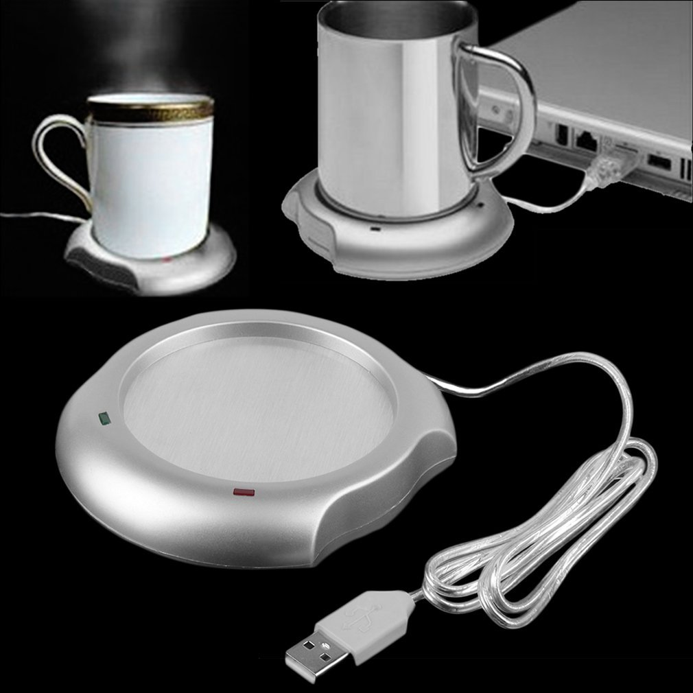 Fashionable USB Insulation Coaster Heater Heat Insulation Electric Multifunctional Coffee Cup Mug Mat Pad Home Office Accessory(China)