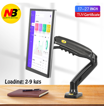 New NB F80 + 2XUSB3.0 Desktop Gas Spring 17-27 LCD LED Monitor Holder Mount Arm Full Motion Display Stand Loading 2-9 kgs dl d 103st 23 55 50 vesa 400x400 50kg full motion 6 arm adjustable arm tv bracket lcd wall mount led stand swivel