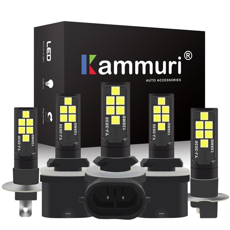 KAMMURI 2 stücke Super Helle H1 H3 Led-lampen Lichter für Autos Hohe Power Led Nebel Lampen 12smd Auto Licht sourse Für Nebel Driving Lampe