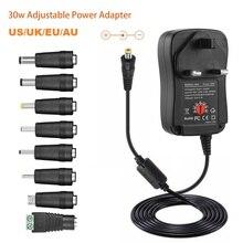 3V 4.5V 5V 6V 7.5V 9V 12V 2A 2.5A AC / DC 어댑터 조정 가능한 전원 공급 장치 LED 전구 LED 스트립에 대 한 범용 어댑터 충전기