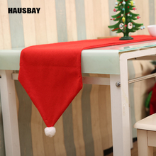 34X176CM Christmas Table Runner Mat Cotton Tablecloth Flag Home Party Decor Red Runners TC014