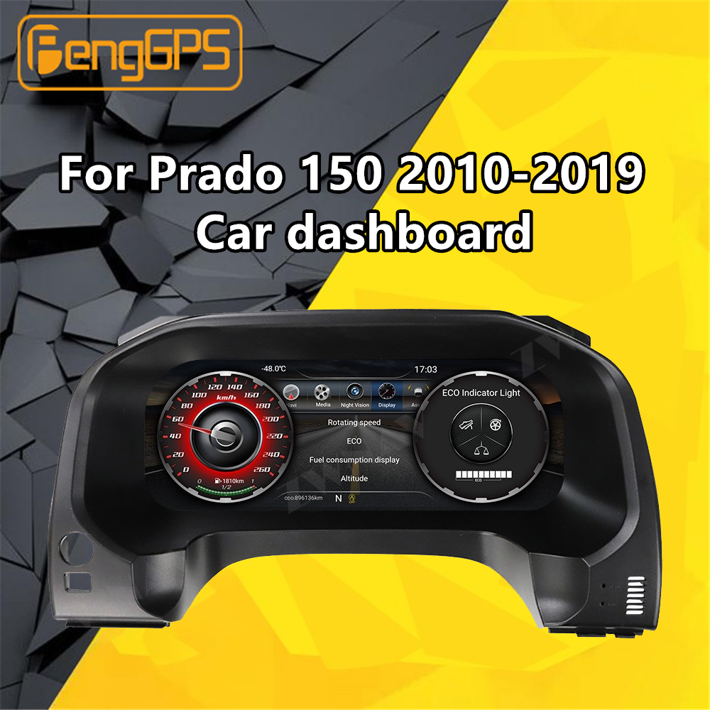 For Toyota Land Cruiser Prado 150 2010-2019 Refit Car Multimedia Player Stereo Head Unit Dashboard Android GPS NAV Radio Audio