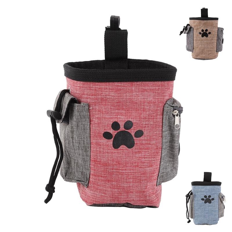 Portable Dog Training Treat Bag Pet Feed Pocket Puppy Snack Reward Waist Bag Walking Snack Pouch Detachable Dog Training Pack S