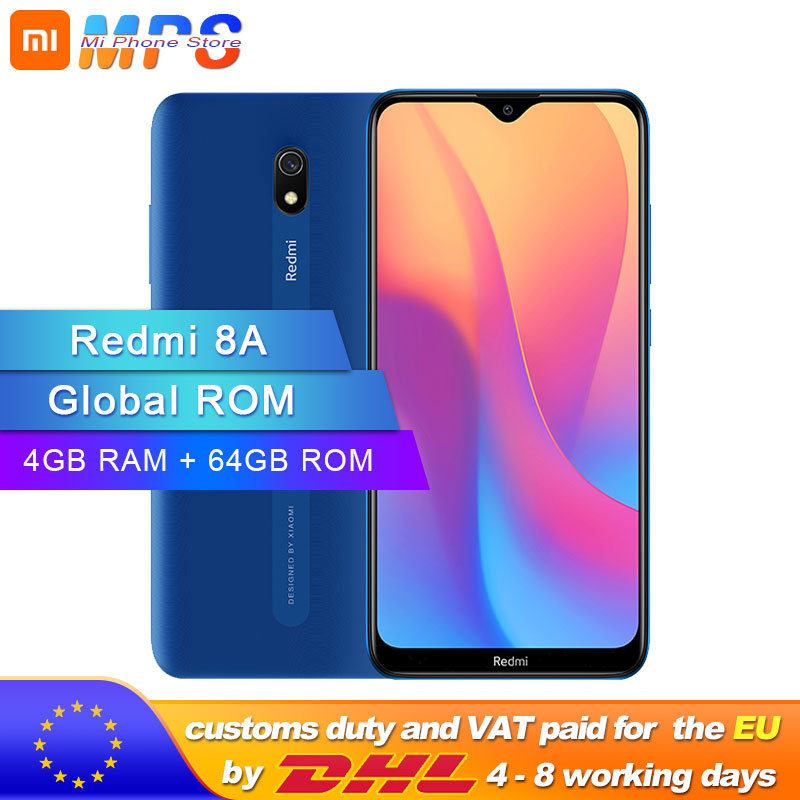 Global ROM Xiaomi Redmi 8A 4GB 64GB Smartphone 5000mAh Snapdargon 439 Octa Core 12MP AI Camera Type-C