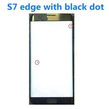 """Original 5.5 """"AMOLED Für Samsung Galaxy S7 rand lcd G935U G935F Lcd Display Touch Screen Digitize Mit Schwarz Dot und linie"""