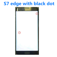 "Orijinal 5.5 ""AMOLED Samsung Galaxy S7 kenar lcd G935U G935F Lcd ekran dokunmatik ekran digitizer siyah nokta ile ve hat"
