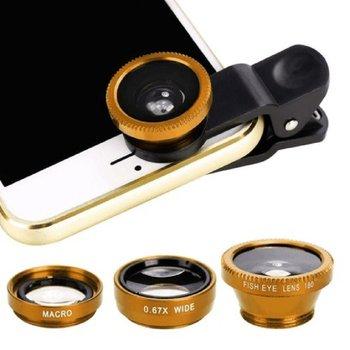 3-in-1 Multifunctional Phone Lens Kit Fish Lens+Macro Lens + Wide Angle Lens Transform Phone Into Professional Camera 1
