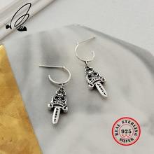 925 Sterling Silver Dangle Earring Thai Vintga Korean Drop Earing Summer Pendientes Mujer Earings Fashion Jewelry Takı