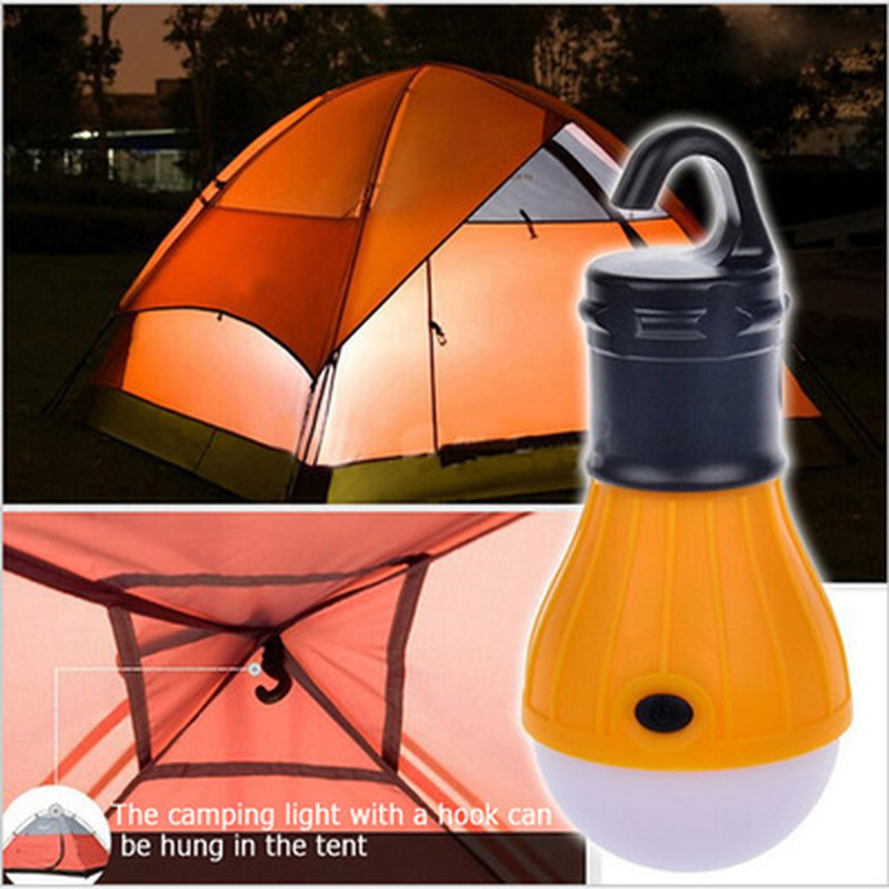 4 Colors Mini Portable Lantern Tent Light LED Bulb Emergency Lamp Waterproof Hanging Hook Flashlight Outdoor Camping New