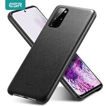 ESR טלפון מקרה עבור 2020 Samsung Galaxy S20 בתוספת S20 אולטרה אמיתי עור מקרה עמיד הלם מגן כיסוי S20 + מקרה בחזרה מכסה