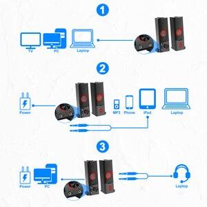 Image 5 - Redragon GS550 aux 3.5mm סטריאו surround מוסיקה חכם רמקולים עמודת קול בר עבור מחשב PC בית נייד טלוויזיה רמקולים
