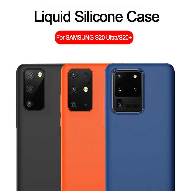 สำหรับ Samsung S20 Ultra Liquid ซิลิโคนนุ่มสำหรับ Samsung Galaxy S20 PLUS A51 A71 A50 S10 5G s9 S8 PLUS หมายเหตุ 8 9 10