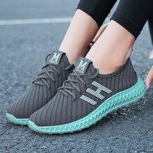 2020 Hot Running Shoe Women Mesh Breathable Walking Shoes Fe