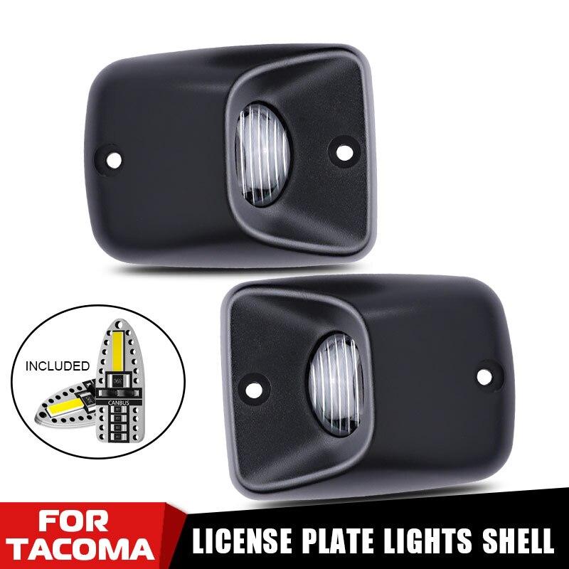 2 pièces noir pare-chocs arrière plaque dimmatriculation lumières lampes blanc T10 ampoules 12v LED lumières pour 1995-2004 Toyota Tacoma