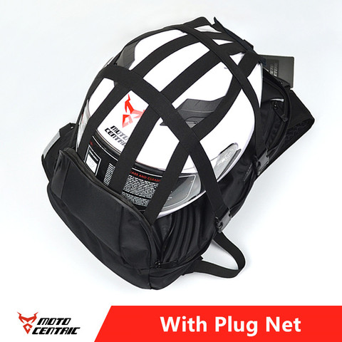alta capacidade de moto motocicleta cauda saco mochila a prova dwaterproof agua rosto cheio capacete