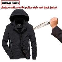 City leisure self defense self defense Men jaket anti cut fashion security hacking stab arme de defence police swat fbi clothing