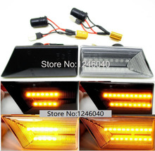 2PCS Led Dynamic Side Marker Turn Signal Indicator Repeater Light Flowing flash fit For Opel Vectra C Signum 2002 2008