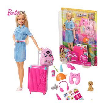 Original Barbie Dolls Travel With Clothes Accessories Toys For Girls Brinquedos Children Juguetes Baby Bonecas