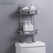 1/2/3 уровневая настенная полка для ванной комнаты стеллаж хранения