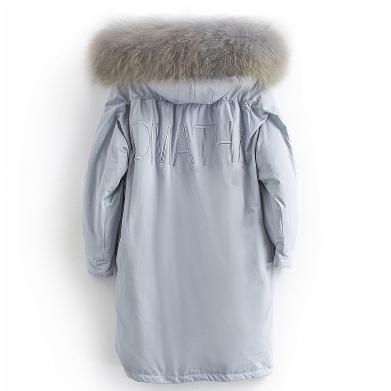 Women Down Coats Jackets Warm Woman Down Parka Real Fur Hooded Long Winter 90% Duck Down Coat Female Clothes 2020 LWL1276