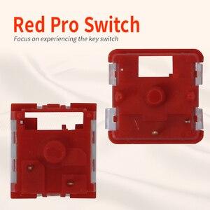 Image 2 - Kailh Box/przełącznik niskoprofilowy czekoladowa mechaniczna klawiatura RGB SMD biała łodyga liniowy ręczny czerwony przełącznik Rro