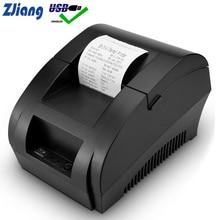 Zjiang POS เครื่องพิมพ์ความร้อน MINI 58mm USB POS Receipt เครื่องพิมพ์สำหรับ Resaurant ซูเปอร์มาร์เก็ต Store Bill ตรวจสอบ EU US ปลั๊ก