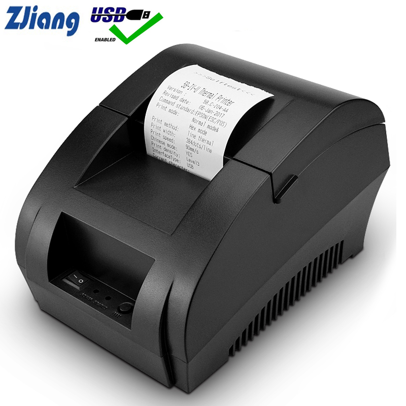 Zjiang POS Thermal Printer Mini 58mm USB POS Receipt Printer For Resaurant Supermarket Store Bill Check Machine EU US Plug|Printers| |  - AliExpress
