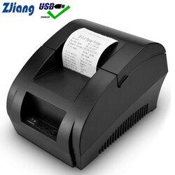 Zjiang POS impresora térmica Mini 58mm USB POS impresora de recibos para supermercado resauricante máquina de verificación de facturas enchufe EU US