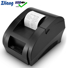 Zjiang Pos Thermische Printer Mini 58 Mm Usb Pos Bonprinter Voor Resaurant Supermarkt Winkel Bill Check Machine Eu Ons plug