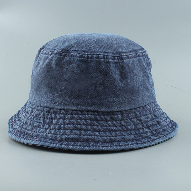 2020 New Foldable Fisherman Hat Washed Denim Bucket Hats Unisex Fashion Bob Caps Hip Hop Gorros Men Women Panama Bucket Cap