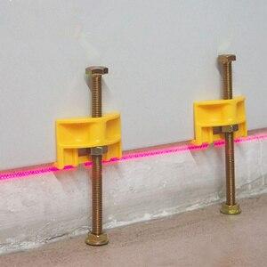 Image 1 - 10 шт. ручной локатор для плитки, регулятор для настенной плитки, регулировка высоты, позиционер, выравниватель, керамическая резьба, инструмент для строительства