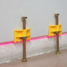 10pcs ידנית אריח איתור קיר אריחי רגולטור כוונון גובה Positioner פלס קרמיקה חוט דק עולה בניית כלי