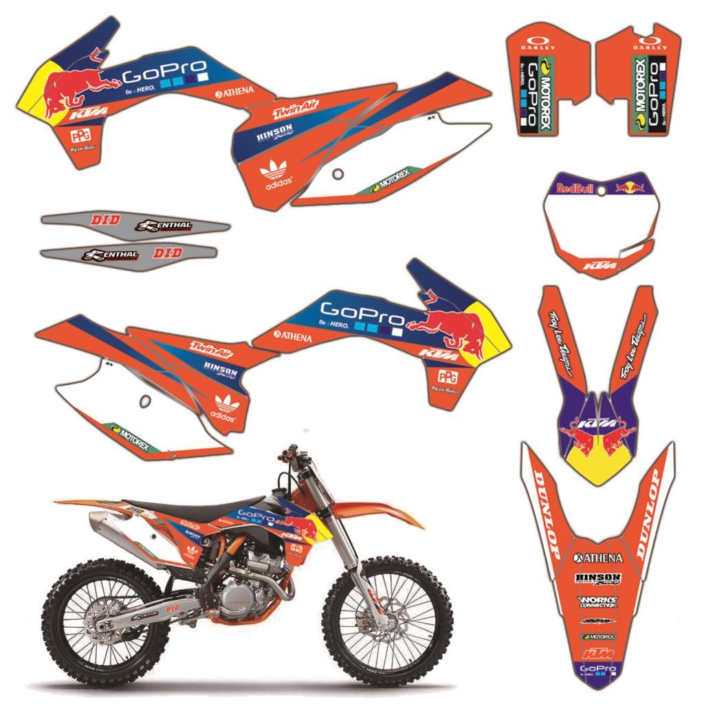 Team Background Decal Sticker Graphic Kit DECO For KTM SX SXF XC XCF 125 150 250 350 450 2013 2014 2015 SX250 2016