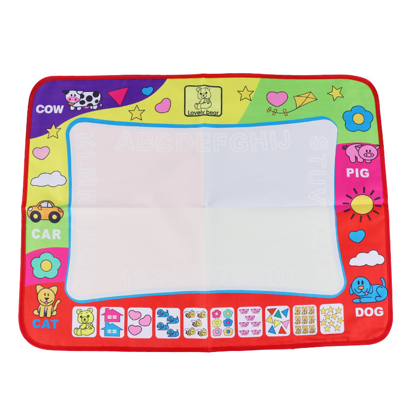 Children Large Size Magic Four Colors Water Canvas Doing Homework Blanket Graffiti Baby Children'S Educational Toy 80*60 Cm