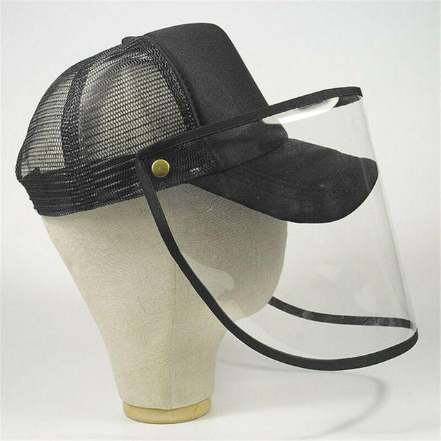Brand New Transparent Anti Saliva Hat Splash Dust Proof Full Face Shield Anti-fog Anti-Virus Protection Mask 2
