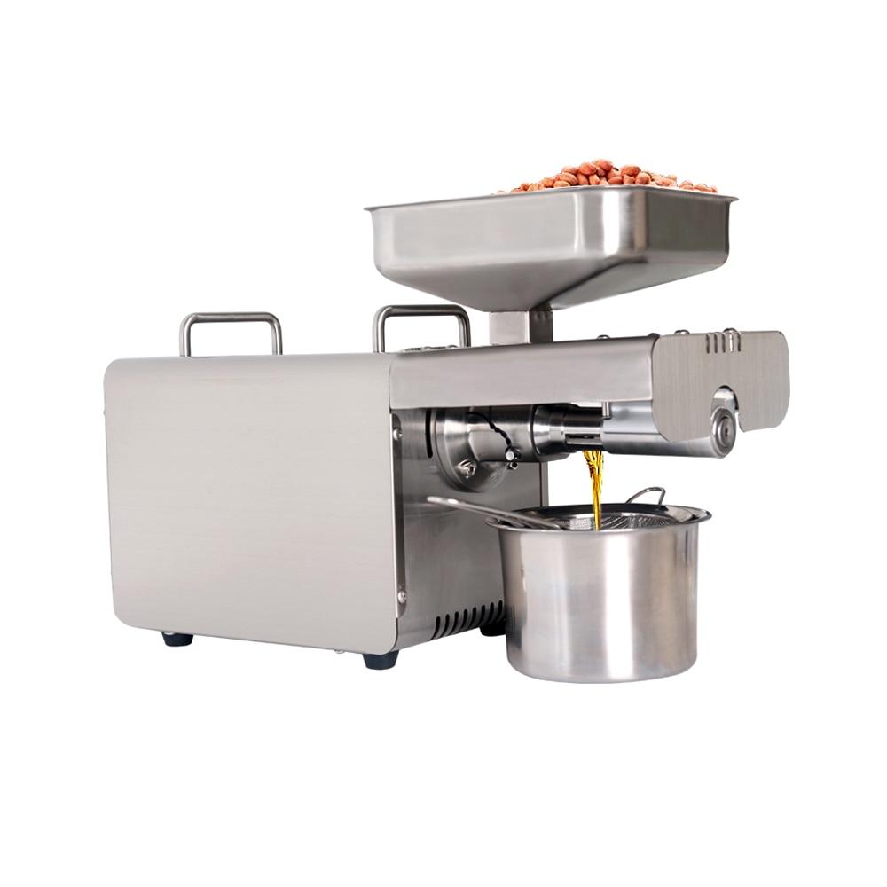 ITOP Stainless Steel Oil Presser Home Use Oil Press Machine Peanut/Olive Oil Maker 220V/110V Suitable For Sesame/Almond IT-15