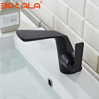 BAKALA Hot cold basin faucet Waterfall Bathroom Vanity Sink Faucet Single Lever Chrome Brass Hot and cold Basin Washing Taps