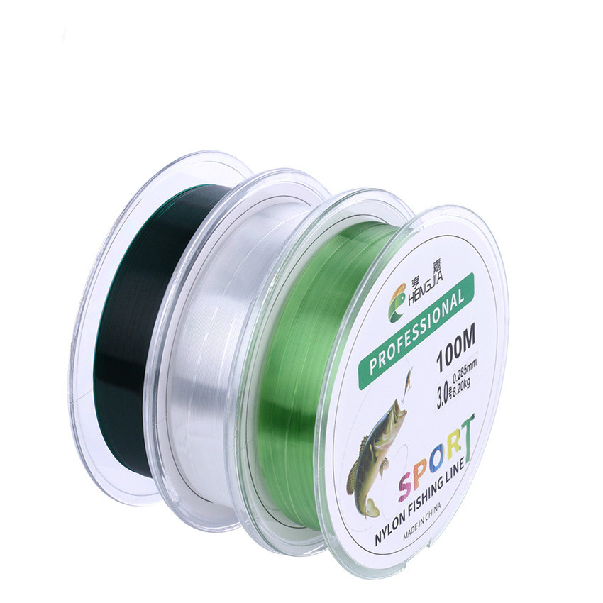 100 Meters Clear Nylon Monofilament Fishing Line Fly Line Backing Fishing Line