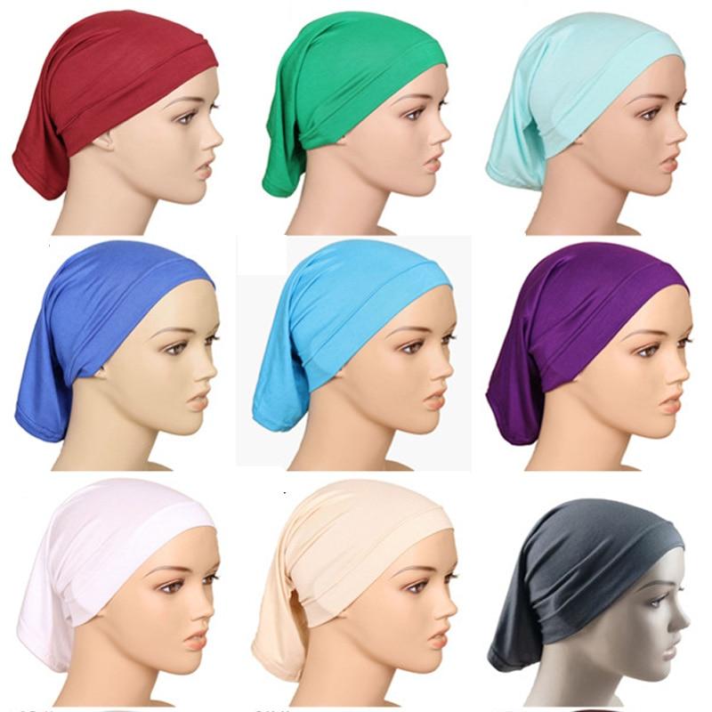 Under Scarf Hijab Tube Bonnet Bone Chemo Hat Cotton Head Cover Inner Caps Women Muslim Inner Hijabs Cap Underscarf Turban Mujer