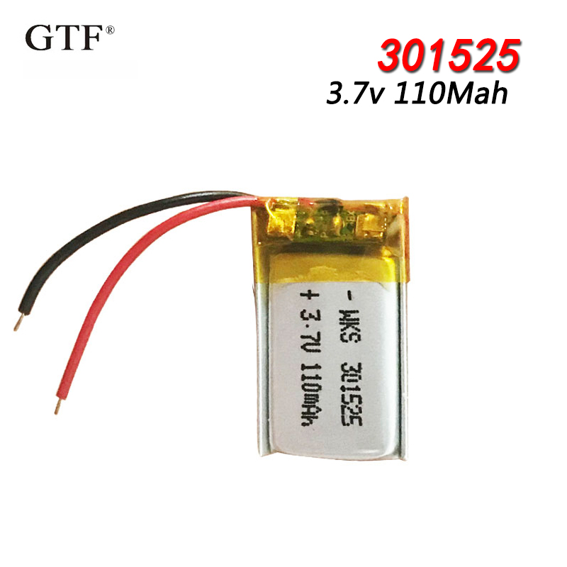 <font><b>301525</b></font> 3.7V 110mAh ithium polymer battery for GPS PSP MP3 MP4 MP5 DVD small toys battery Bluetooth headset Li-ion Cell battery image