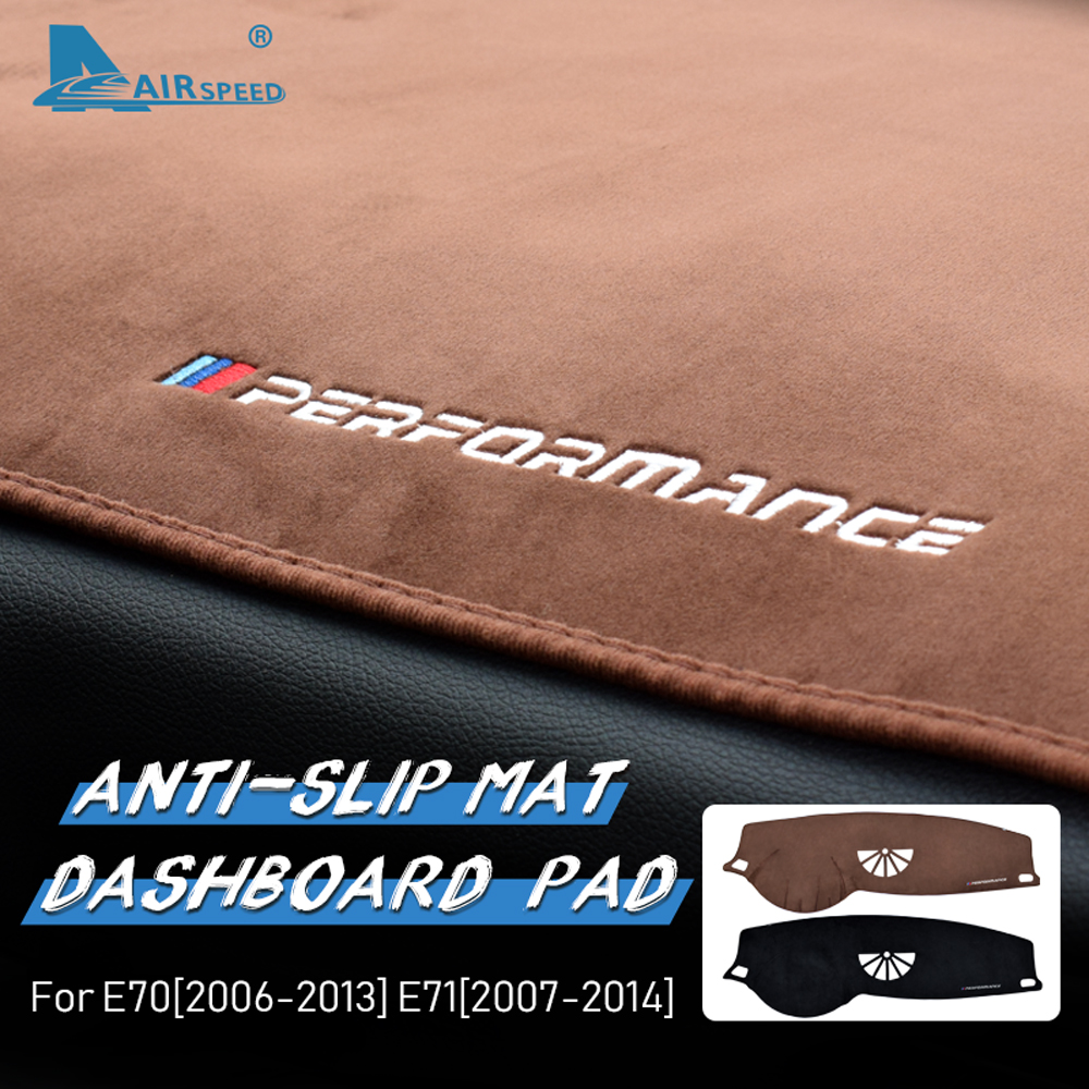 AIRSPEED for BMW X5 E70 X6 E71 Accessories Flannel Car Anti Slip Anti UV Mat Dashboard Cover Pad Dashmat Carpet Interior Trim