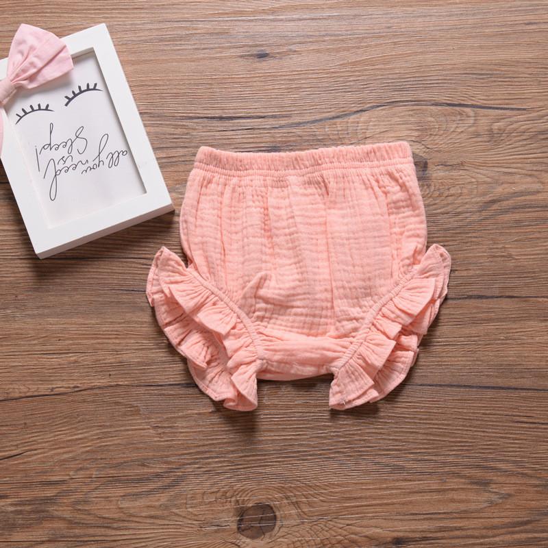 Infant Kids Harem Pants Cotton Linen Shorts Newborn Baby Boys Girls Short Trousers PP Pants Diaper Covers Bloomers 0 24 months