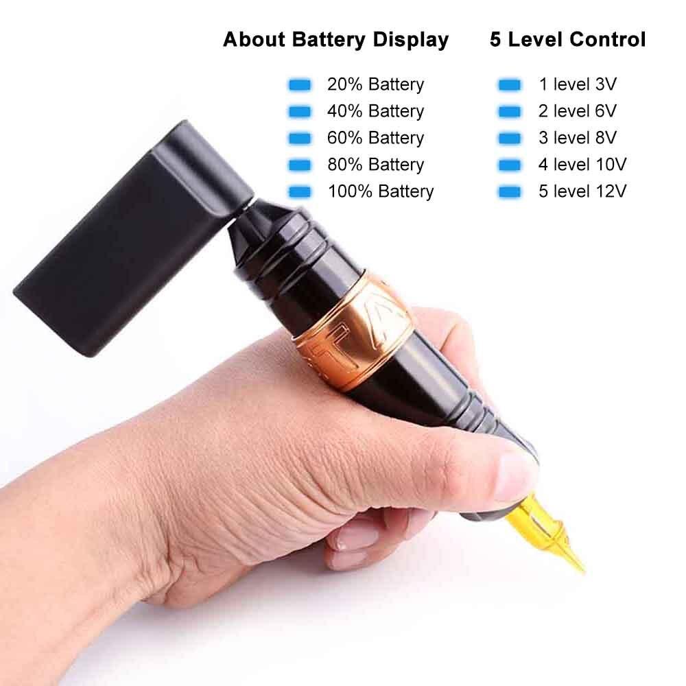 Mini Machine sans fil de stylo de tatouage de batterie externe d'alimentation d'énergie de tatouage 2000mAh