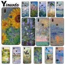 Claude Monet Oil Painting Sunflower Phone Case For Vivo Y83 Y85 V9 Y95 Y91 Y91i Y97 V5 V5S V7 PLUS V11 V11 Pro V11I Mobile Cases(China)