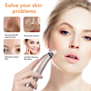 Image 2 - 5 Suction Power Vacuum Blackhead Remover Pore Cleaner Acne Extractor Tool LCD Display Face Exfoliating Machine Beauty Device