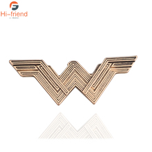 Hot Movie Jewelry Wonder Woman Brooches for Women Fashion Vintage Super Hero Lapel Pins Badge