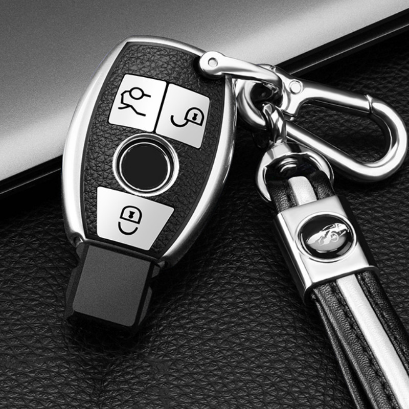 PU TPU Car Key Case For Mercedes Benz W203 W204 W211 CLK C180 E200 AMG C E S Class Smart Remote Fob Cover Keychain Protector Bag