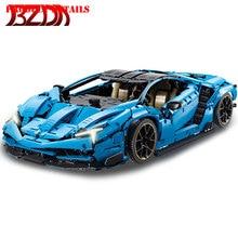 BZDA MOC Technology Racing Car Building Block Lamborghini Centenary 1: 8 Super Sports Car Model Boy Toys Block Boyfriend Gift